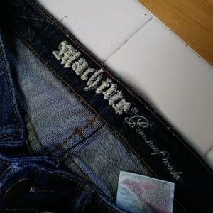 Jeans - Machine Destroyed Blue Jeans Size 9